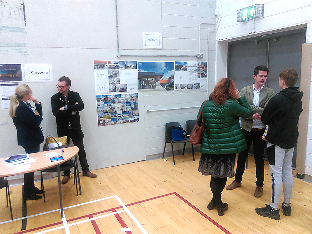 McKevitt Architects attend the October 2018 'Careers Exploration Evening'