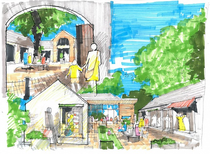 Retail Boutique   Stables and Outbuildings Sketch Low Res