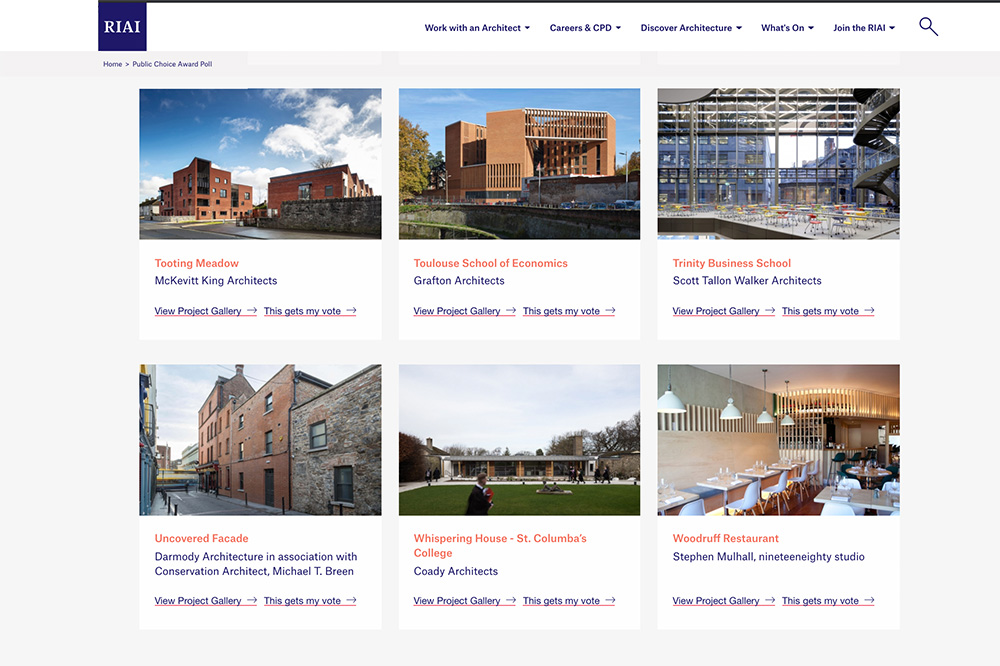 RIAI AWARDS: Last chance to vote!